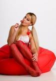 lollipop νεολαίες γυναικών Στοκ εικόνες με δικαίωμα ελεύθερης χρήσης
