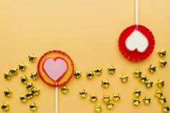 Lollipop σε χαρτί Στοκ Εικόνες