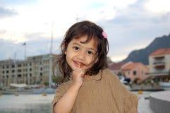 lollipop девушки счастливый Стоковое Фото
