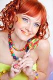 lollipop девушки Стоковые Изображения RF