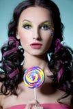 lollipop девушки Стоковые Изображения