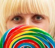 lollipop девушки Стоковое Изображение