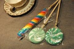lollipop кофе Стоковая Фотография