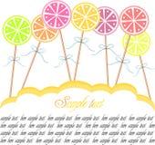 lollipop предпосылки Стоковые Изображения RF