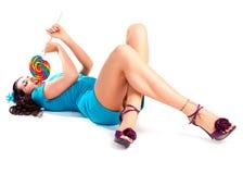 lollipop девушки Стоковое Фото