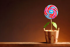 Lollipop. Growing lollipop with endless happiness stock images