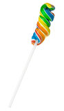 Lollipop. Rainbow sweet Lollipop isolated on white background Royalty Free Stock Photography