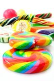 Lollipop. Many colorful lollipop on a white background royalty free stock image