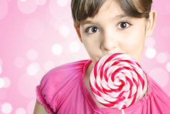 lollipop девушки Стоковые Фотографии RF