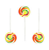 Lollipop. Swirling lollipop on white background Stock Photos