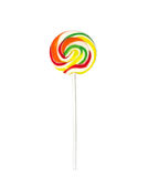 Lollipop. Swirling lollipop on white background Royalty Free Stock Image