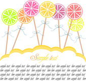 Lollipop background Royalty Free Stock Images