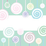 Lollipop Background Stock Images