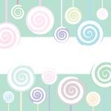 Lollipop Background. Trendy Lollipop Background in pastel colors, vector illustration Stock Images