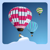 Lollipop balloons. Lollipop-coloredot air balloons with a banner for your text Royalty Free Stock Photography
