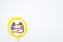 Lollipop bear isolated on white background Stock Photography