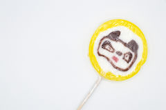 Lollipop bear isolated on white background Royalty Free Stock Photography