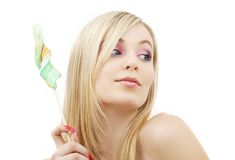 Lollipop blonde Stock Photos