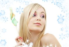 Lollipop blonde Stock Images