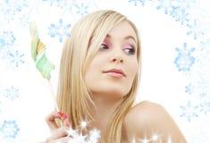 Lollipop blonde Stock Images