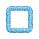 Lollipop blue square frame Stock Image