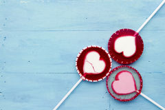Lollipop on blue Royalty Free Stock Image