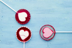 Lollipop on blue Royalty Free Stock Images