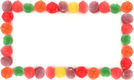 Lollipop borders Royalty Free Stock Images