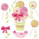 Lollipop bouquet. Bouquet with lollipop. Vector illustration Royalty Free Stock Photo