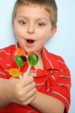 Lollipop boy Stock Photography