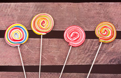 Lollipop candies Stock Photo