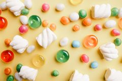 Lollipop candy background, confectionery design royalty free stock photography