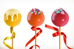 Lollipop candy. 3d vector icon Royalty Free Stock Images