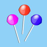 Lollipop candy, icon, flat design. vector illustration Royalty Free Stock Photos