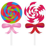 Lollipop Candy with Ribbons Royalty Free Stock Images