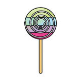 Lollipop candy on stick Royalty Free Stock Images