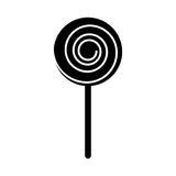 Lollipop candy on stick Stock Image