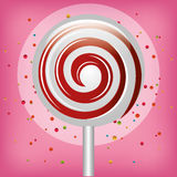 Lollipop candy sweet isolated icon Royalty Free Stock Photos