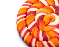 Lollipop candy on white Stock Image