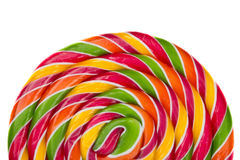 Lollipop candy on white background, rainbow Stock Image