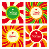 Lollipop cards. Royalty Free Stock Photo