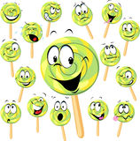 Lollipop cartoon Royalty Free Stock Photo