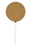 Lollipop. Chocolate lollipop isolated on white background. With clipping path Stock Photography
