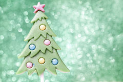 Lollipop in christmas tree shape Stock Photography