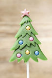 Lollipop in christmas tree shape Royalty Free Stock Images