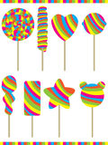 Lollipop Color Set Stock Photos