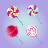 Lollipop colorful set Stock Images