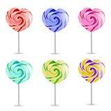 Lollipop colorido no branco Vetor EPS-10 Foto de Stock Royalty Free