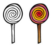 Lollipop coloring book Royalty Free Stock Images