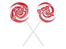 Lollipop composition Stock Image